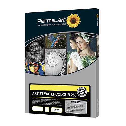 PermaJet Artist Watercolour 250 Paper Sheets - 250gsm - A4 x 25 sheets - APJ60113