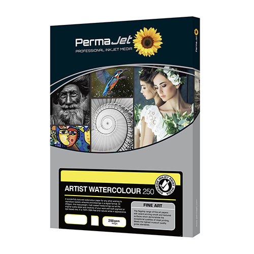 PermaJet Artist Watercolour 250 Paper Sheets - 250gsm - A3 x 25 sheets - APJ60123