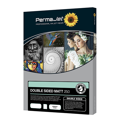 PermaJet Double Sided Matt 250 Paper Sheets - 250gsm - A3+ x 50 sheets - APJ24135