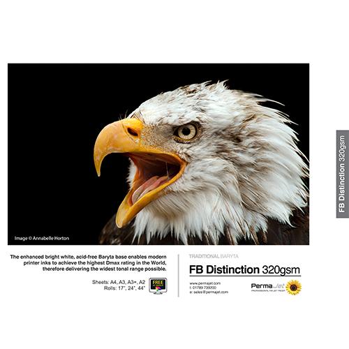 PermaJet FB Distinction 320 Paper Sheets - 320gsm - A3+ x 25 sheets - APJ64233