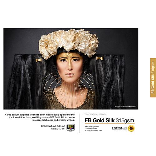 """PermaJet FB Gold Silk 315 Paper Roll - 315gsm - 24"""" inch - 610mm x 15mt - APJ22767"""