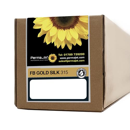 """PermaJet FB Gold Silk 315 Paper Roll - 315gsm - 44"""" inch - 1118mm x 15mt - APJ22797"""