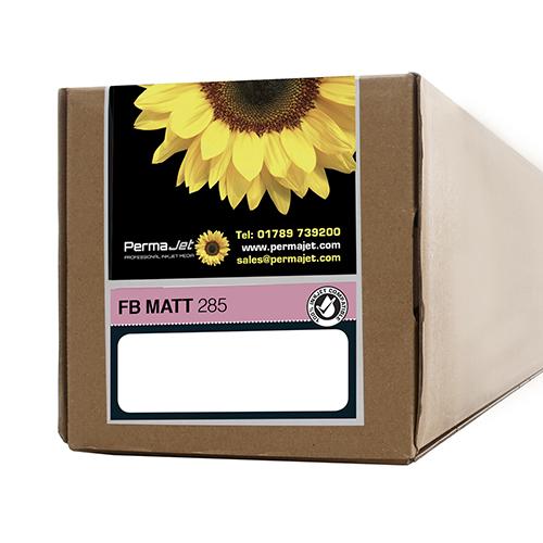 """PermaJet FB Matt 285 Paper Roll - 285gsm - 24"""" inch - 610mm x 15mt - APJ20667"""