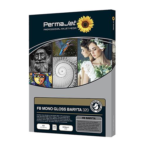 PermaJet FB Mono Gloss Baryta 320 Paper Sheets - 320gsm - A4 x 25 sheets - APJ62713