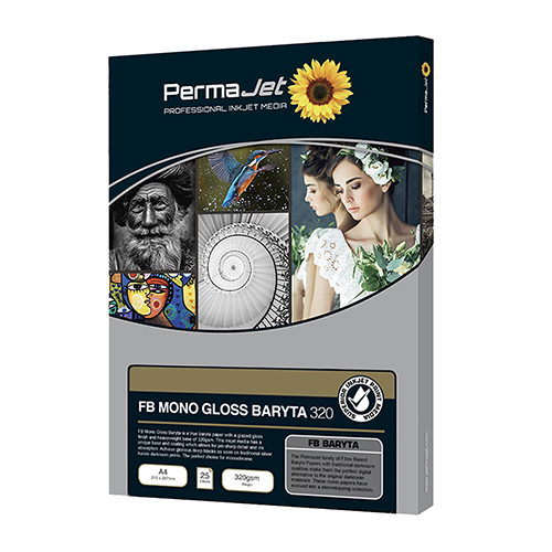 PermaJet FB Mono Gloss Baryta 320 Paper Sheets - 320gsm - A3+ x 25 sheets - APJ62733