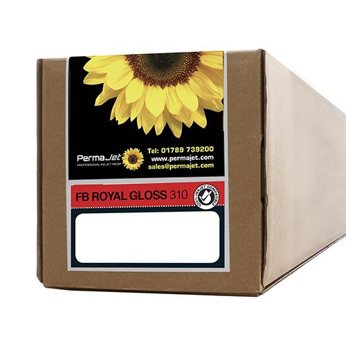 "PermaJet FB Royal Gloss 310 Paper Roll - 310gsm - 17"" inch - 432mm x 15mt - APJ62658"