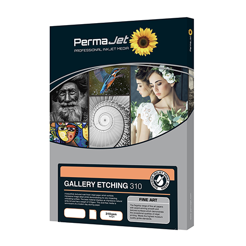 PermaJet Gallery Etching 310 Paper Sheets - 310gsm - A3 x 25 sheets - APJ60323