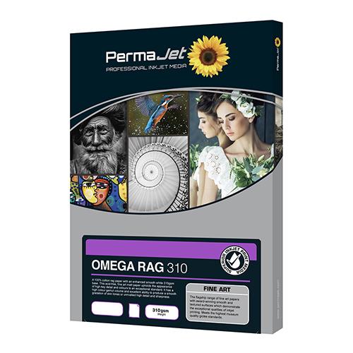 PermaJet Omega Rag 310 Paper Sheets - 310gsm - A3 x 25 sheets - APJ21923