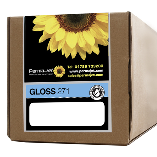 """PermaJet Gloss 271 Digital Photo Paper Roll - 271gsm - 24"""" inch - 610mm x 30mt - APJ50868"""