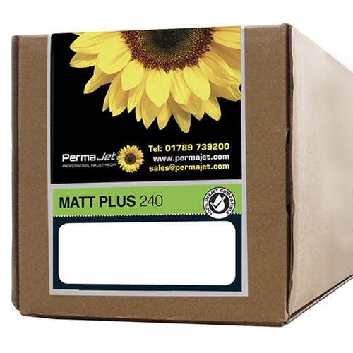 """PermaJet Matt Plus 240 Digital Photo Paper Roll - 240gsm - 44"""" inch - 1118mm x 30mt - APJ51198"""