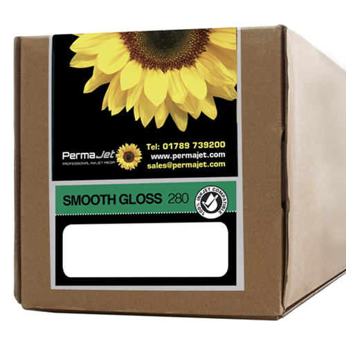 "PermaJet Smooth Gloss 280 Digital Photo Paper Roll - 280gsm - 44"" inch - 1118mm x 30mt - APJ50598"