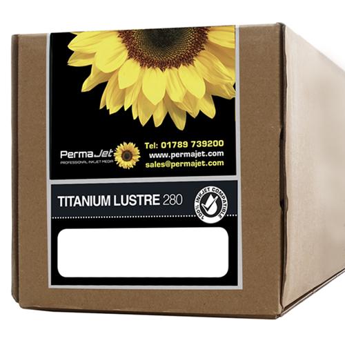 "PermaJet Titanium Lustre 280 Metallic Digital Photo Paper Roll - 280gsm - 44"" inch - 1118mm x 30mt - APJ25089"