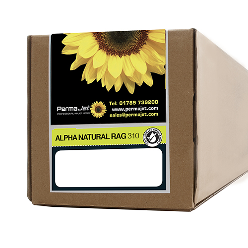 "PermaJet Alpha Natural Rag 310 Paper Roll - 310gsm - 24"" inch - 610mm x 15mt - APJ21867"