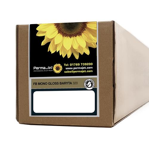"PermaJet FB Mono Gloss Baryta 320 Paper Roll - 320gsm - 24"" inch - 610mm x 15mt - APJ62768"
