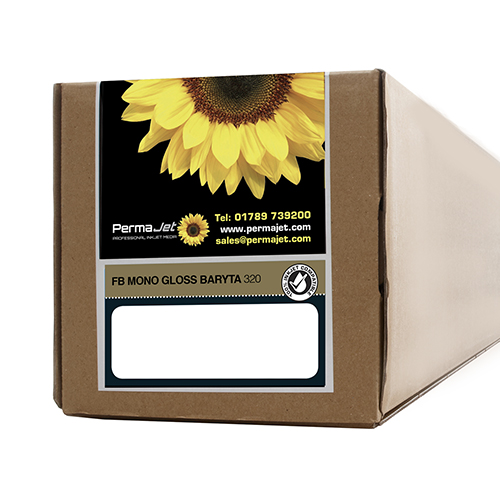 "PermaJet FB Mono Gloss Baryta 320 Paper Roll - 320gsm - 44"" inch - 1118mm x 15mt - APJ62798"