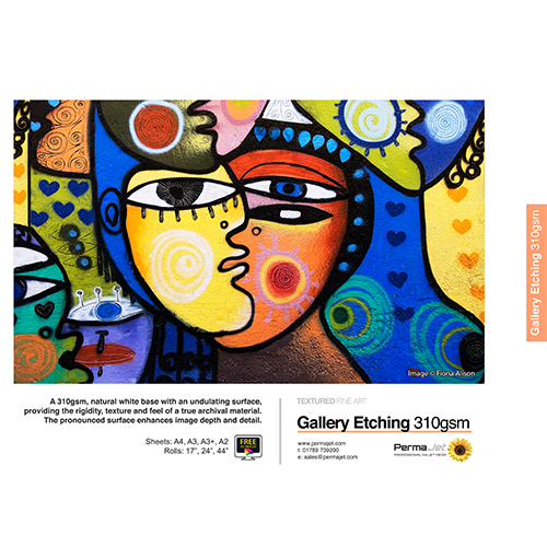 "PermaJet Gallery Etching 310 Paper Roll - 310gsm - 44"" inch - 1118mm x 15mt - APJ60397"