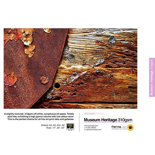 "PermaJet Museum Heritage 310 Paper Roll - 310gsm - 17"" inch - 432mm x 15mt - APJ60257"