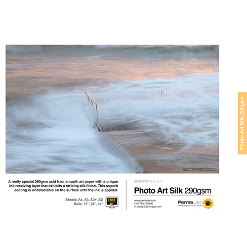 PermaJet Photo Art Silk 290 Paper Sheets - 290gsm - A4 x 25 sheets - APJ62513