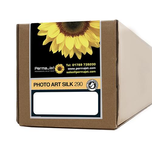 """PermaJet Photo Art Silk 290 Paper Roll - 290gsm - 17"""" inch - 432mm x 15mt - APJ62557"""