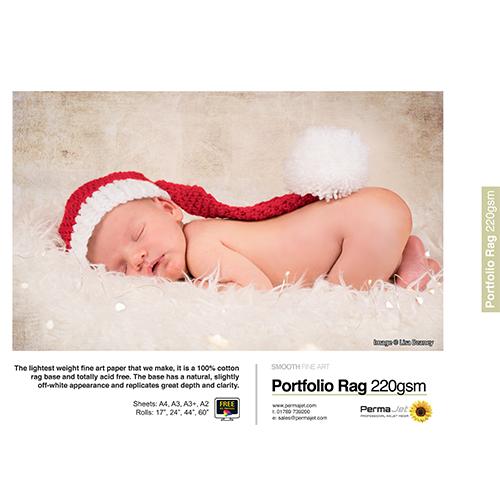 PermaJet Portfolio Rag 220 Paper Sheets - 220gsm - A4 x 25 sheets - APJ21613