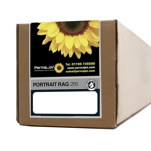 "PermaJet Portrait Rag 285 Paper Roll - 285gsm - 17"" inch - 432mm x 15mt - APJ61357"