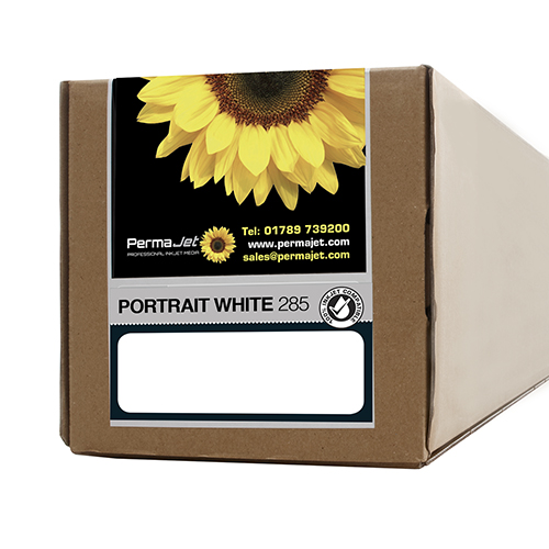 "PermaJet Portrait White 285 Paper Roll - 285gsm - 17"" inch - 432mm x 15mt - APJ22259"