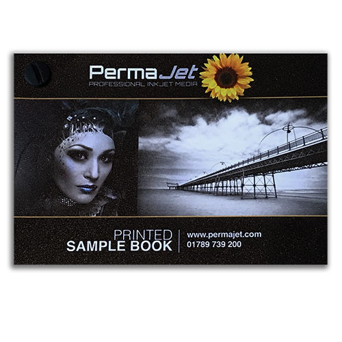 PermaJet Printed Sample Book - Test Pack - Complete Printed paper and Canvas Swatch Book - A5 - ASWATCHA5