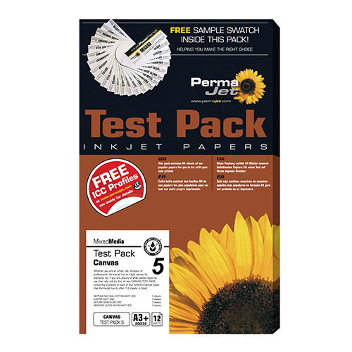 PermaJet Canvas - Test Pack 5 - A3+ - 12 Sheets - APJ20032