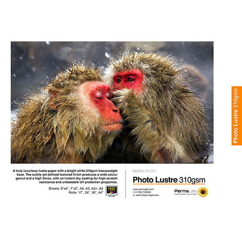 "PermaJet Photo Lustre 310 Digital Photo Paper Roll - 310gsm - 44"" inch - 1118mm x 30mt - APJ22098"