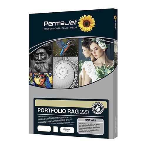 PermaJet Portfolio Rag 220 Paper Sheets - 220gsm - A3+ x 25 sheets - APJ21633