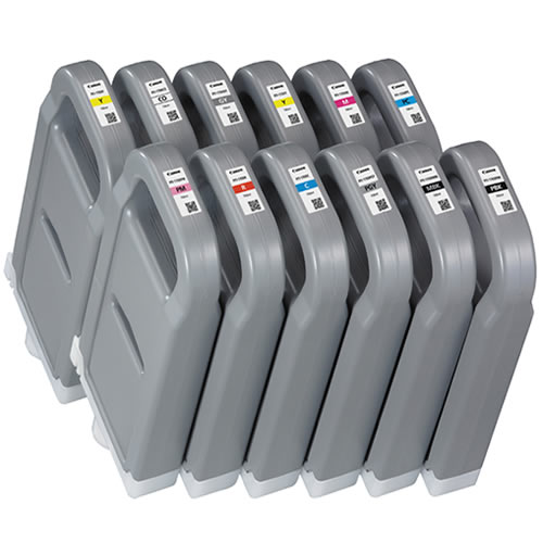 Canon PFI-1700 Ink Tank Full Set - 12 x 700ml Cartridges - for Canon PRO-2000, PRO-4000 & PRO-6000 Photo Printers