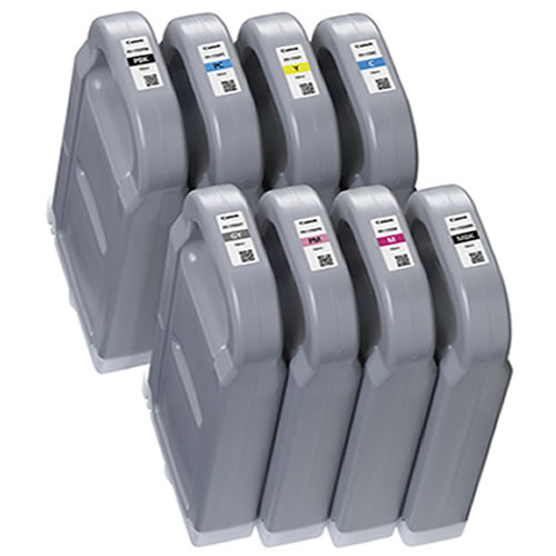 Canon PFI-1700 Ink Tank Full Set - 8 x 700ml Cartridges - for Canon PRO-4000S & PRO-6000S Graphics Printers