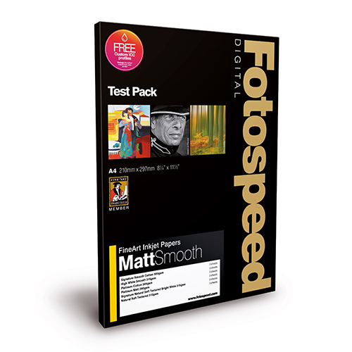 Fotospeed Digital Fine Art Paper - Fine Art Matt Smooth Test Pack - A4 - 18 sheets - 7E107