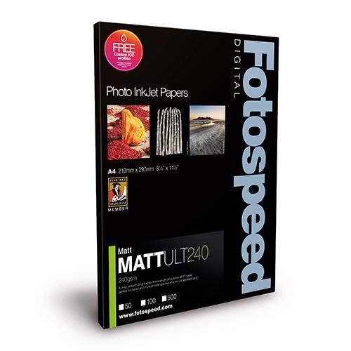 Fotospeed Matt Ultra 240 Paper Sheets - 240gsm - A4 x 100 sheets - 7D109