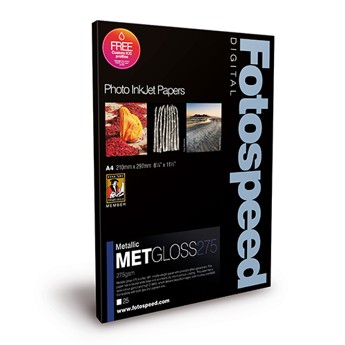 Fotospeed Metallic Gloss 275 Paper Sheets - 275gsm - A3+ x 25 sheets - 7D666