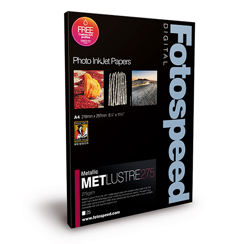 Fotospeed Metallic Lustre 275 Paper Sheets - 275gsm - A3+ x 25 sheets - 7D657