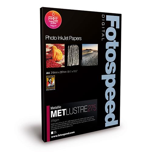 Fotospeed Metallic Lustre 275 Paper Sheets - 275gsm - A2 x 25 sheets - 7D658
