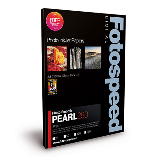 Fotospeed Photo Smooth Pearl 290 Paper Sheets - 290gsm - A3 x 300 sheets - 7D594