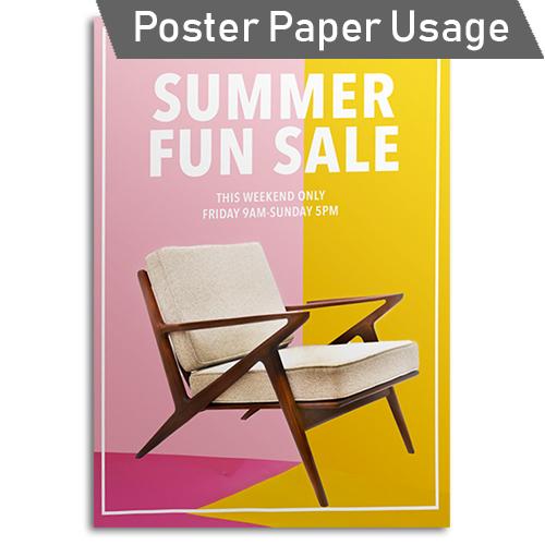 GDS Paper Starter Pack - Poster Paper Usage Idea