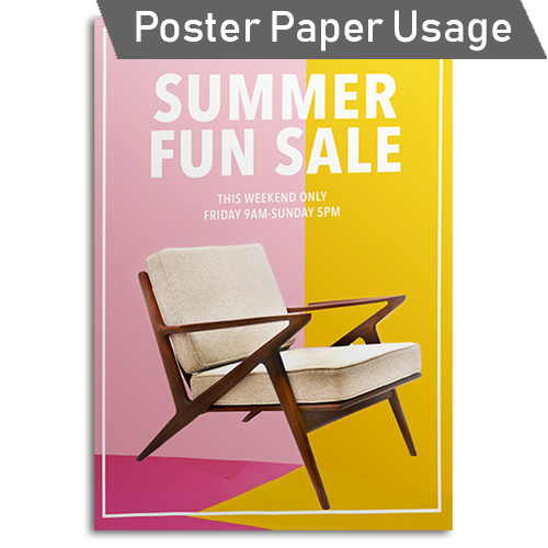 GDS Paper Starter Pack - Poster Paper Usage Idea