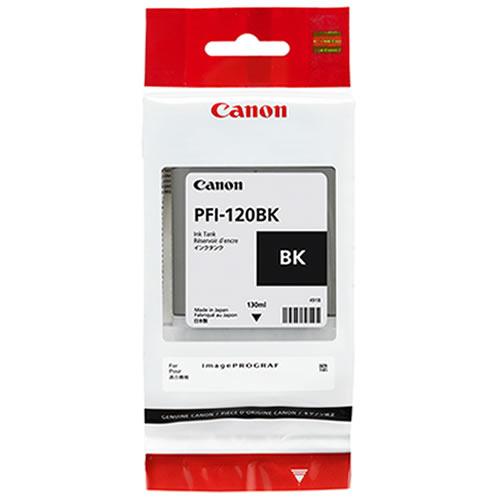 Canon PFI-120BK Printer Ink Cartridge | Black Ink Tank | 130ml | 2885C001AA