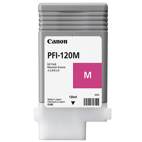Canon PFI-120M Printer Ink Cartridge | Magenta Ink Tank | 130ml | 2887C001AA