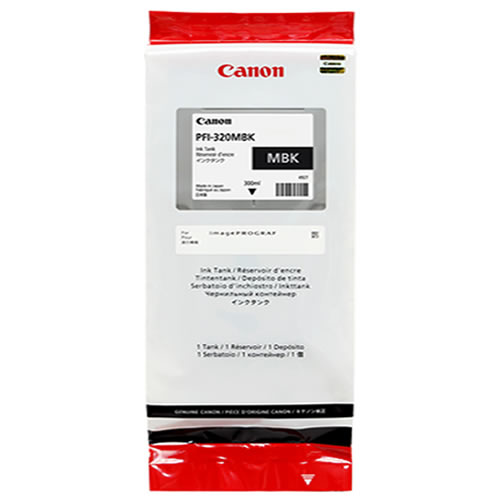 Canon PFI-320MBK Printer Ink Cartridge | Matte Black Ink Tank | 300ml | 2889C001AA