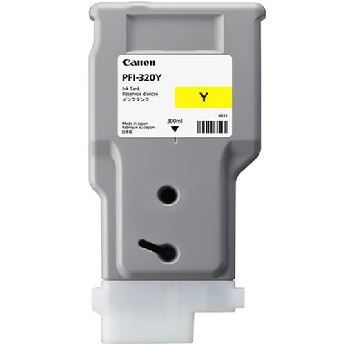 Canon PFI-320Y Printer Ink Cartridge |  Yellow Ink Tank | 300ml | 2893C001AA