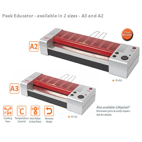 Peak Educator Pouch Laminator - Available in A2 and A3 size