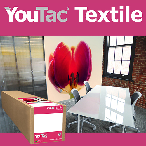 "YouTac Textile Self Adhesive Repositionable Aqueous Media Roll - 170gsm - 17"" inch - 432mm x 30.5mt - IYT-101-0432-30.5"