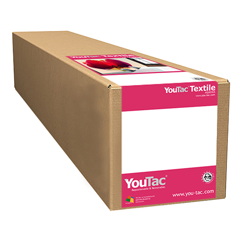 "YouTac Textile Self Adhesive Repositionable Aqueous Media Roll - 170gsm - 36"" inch - 914mm x 30.5mt - IYT-101-0914-30.5"