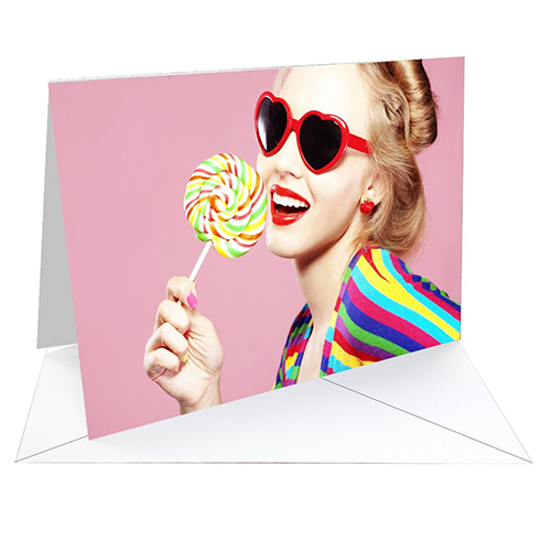 Fotospeed Fotocards - Platinum Gloss Art Fibre 300 - Greetings Cards - 300gsm - A5 x 20 Cards - 7E056C