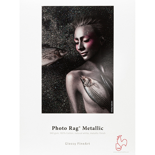 "Hahnemühle Photo Rag Metallic 340gsm - 17"" inch - 432mm x 12mt - 10643574"