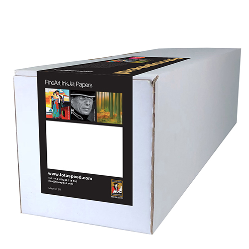"Fotospeed Natural Soft Textured Bright White 315 Fine Art Matt Paper Roll - 315gsm - 24"" inch - 610mm x 12mt - 7E315"
